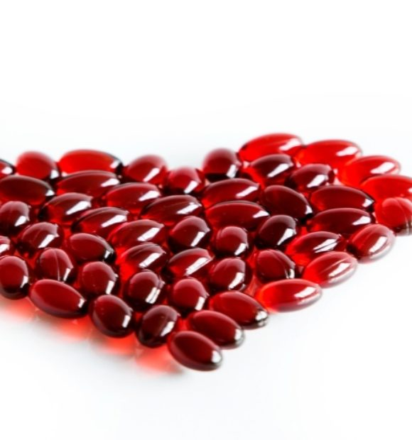 Capsules in heart shape